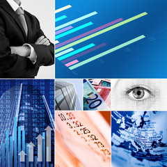 euro business collage