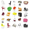 3d render of modern chairs