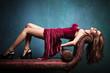 sensual elegant woman