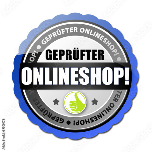 Geprüfter Onlineshop! Button, Icon