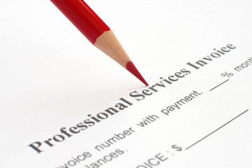 Professional service invoice