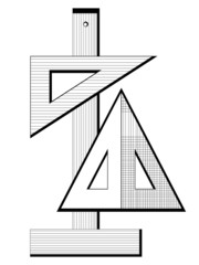 The vector symbol geomerty squares and lines
