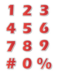 Numbers - Red