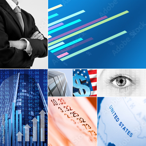 USA business collage