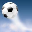 Fussball flieg schnell