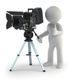3d small people - Cameraman