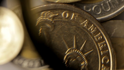 Consider a coin one dollar