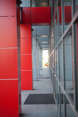 Red office building