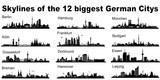 Skylines der größten deutschen Städte