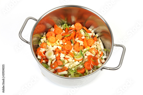 Topf mit Gemüse