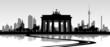 Fototapeten,berlin,skyline,icon,sehenswürdigkeit