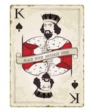 Vintage king of spades, playing card