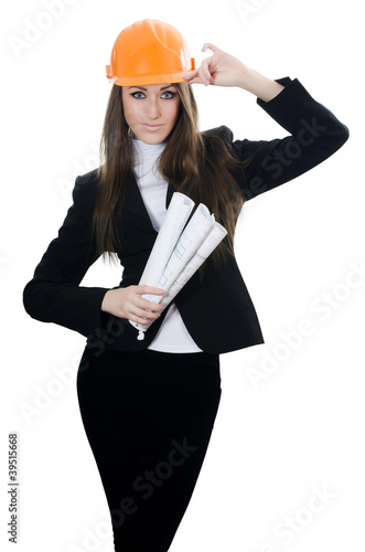 Business woman with projects