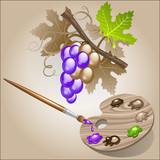 Coloring the grape