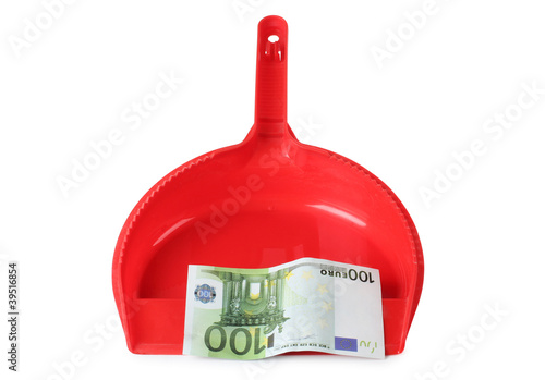 Red scoop and euro