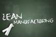 "Chalkboard ""Lean Manufacturing"""
