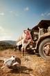 Fototapeten,autos,cowboy,cowgirl,gestalten