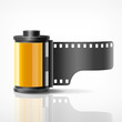 Camera film roll vector illustration