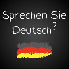 Kreidetafel, Sprechen Sie Deutsch