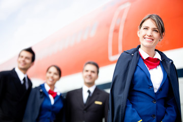 Airplane cabin crew