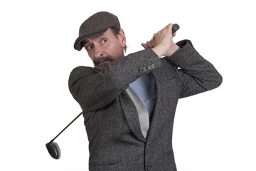 vintage style golf player