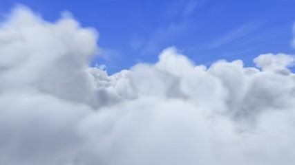 Flug durch Wolken (Loop+Alpha 25i)