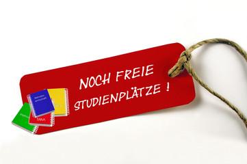 Studienplätze frei!