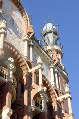 Exterior of Palau de la Musica in Barcelona