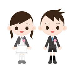 小学校入学式 男の子女の子