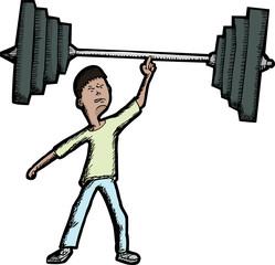 Skinny Weightlifter