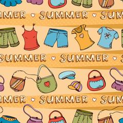 Summer fashion background