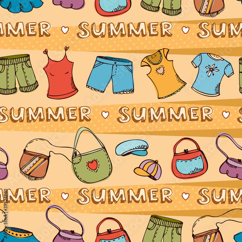 Summer fashion background