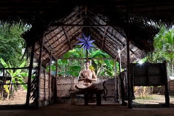 Yoga meditation in lotus