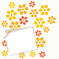 flower card with paper