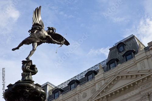 Eros Statue in Piccadilly Circus