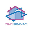 Logo house, real estate agency # Vector
