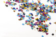 abstract color confetti