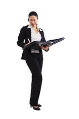 Geschäftsfrau, Business, Aktenmappe