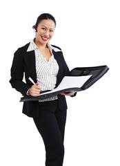 Geschäftsfrau, Business, Aktenmappe 2