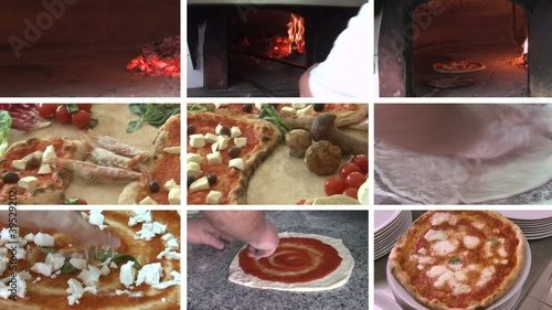 pizza collage margherita