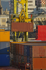 maritime activity at the Port of Genoa,Italy