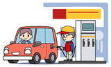 Service station - Refueling poster