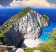 Greece coast with Navagio beach, Zakynthos Island
