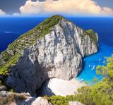 Greece coast with Navagio beach, Zakynthos Island