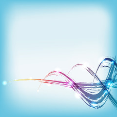 vector: color paint water wave background