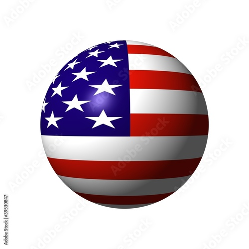 ball from U.S. flag