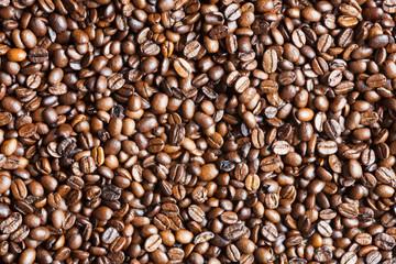 Hintergrundtextur aus Kaffeebohnen