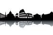 Rome skyline - black and white vector illustration - 39531831