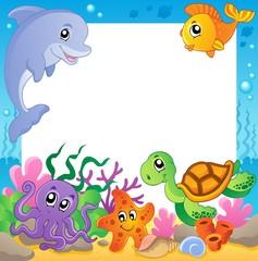 Frame with underwater animals 1