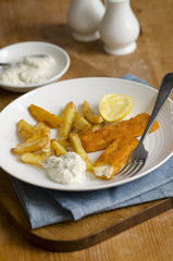 Fish fingers with french fries